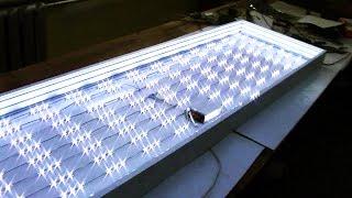 Делаем лайтбокс(Показан процесс изготовления лайтбокса на основе ПВХ профиля и светодиодов., 2016-02-07T14:40:35.000Z)