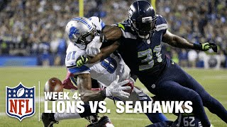 Kam Chancellor Forces Calvin Johnson Fumble, Seals Victory | Lions vs. Seahawks | NFL