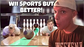 Bowling Trick Shots 2 | Dude Perfect Reaction
