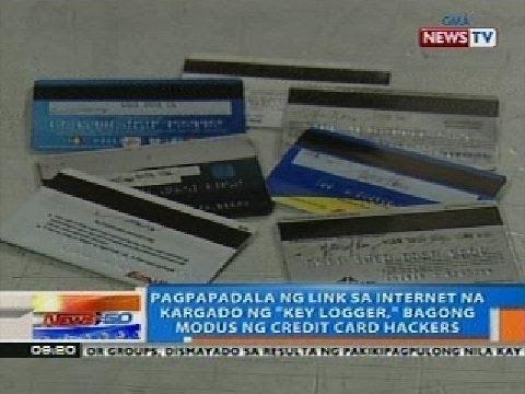 Pagpapadala ng link sa internet na kargado ng 'key logger' bagong modus ng credit cards hackers