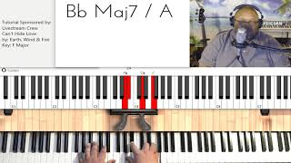 Can't Hide Love (by Earth, Wind & Fire) - Piano Tutorial