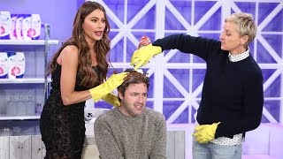 Andy Gets a Hair Makeover from Ellen and Sofa Vergara!