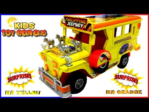 Kid's Toy Car! Philippine Jeepney unboxing & playtime - Kids Toy Reviews. Fun Toy Cars for Children