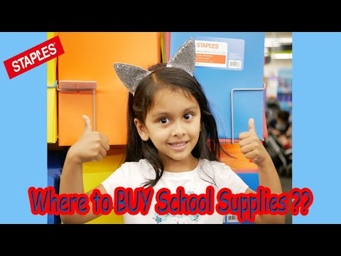 Shopping for school supplies at staples