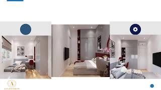 Nội thất căn hộ cho vợ chồng trẻ Topaz Elite - 2 phòng ngủ