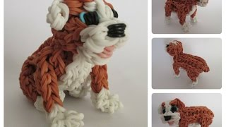 Rainbow Loom English Bulldog - Rubble Puppy Part 1/2 Loombicious