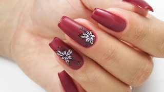Autumn nails art tutorial / stardoro