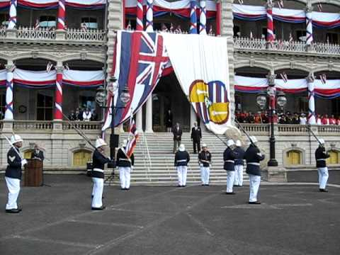 Review of the Royal Guard at 'Iolani Palace