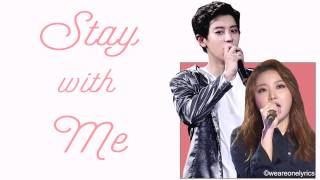 Gambar cover Chanyeol & Punch - Stay With Me [Hangul, English and EASY Lyrics]
