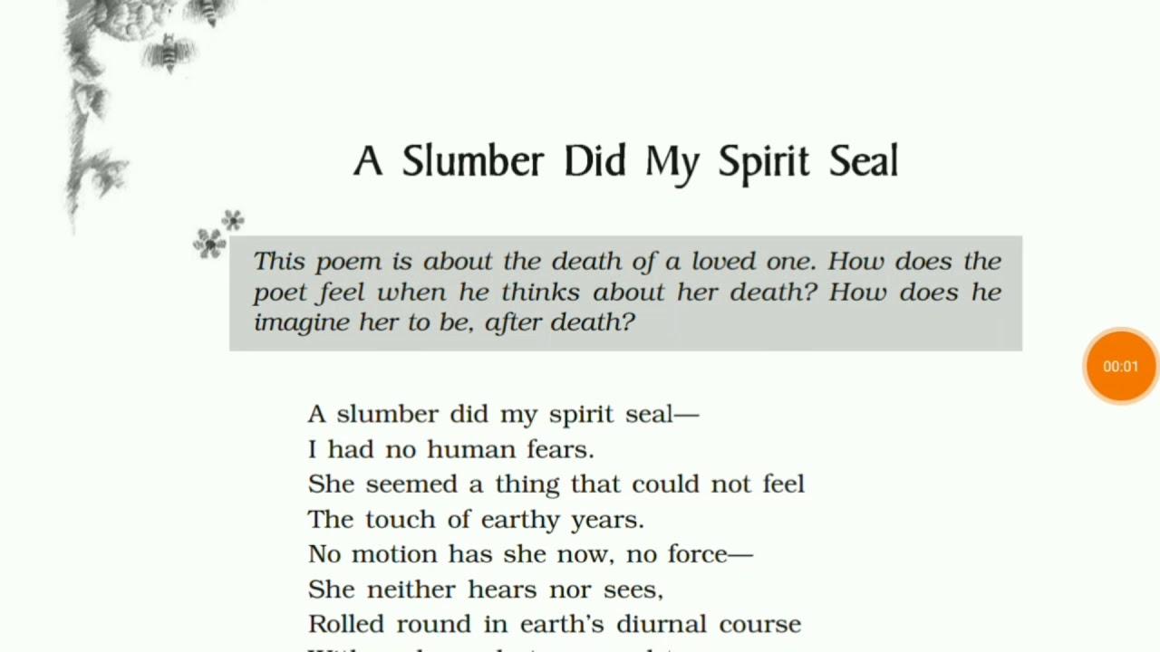 slumber did my spirit seal