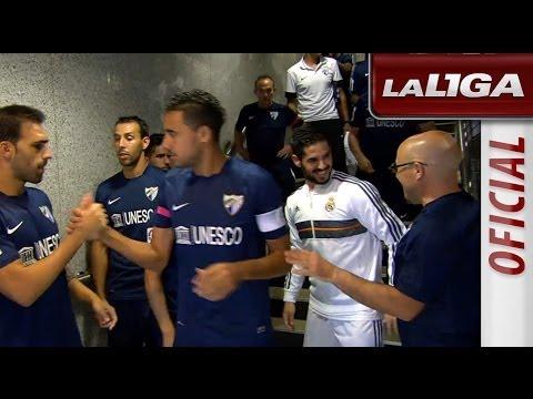 Ramos bromea con Isco después de que el malacitano salude a sus excompañeros del Málaga CF