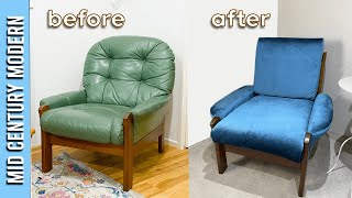 Beginner Sewer Attempts Mid Century Retro Chair Restoration & Reupholstery....