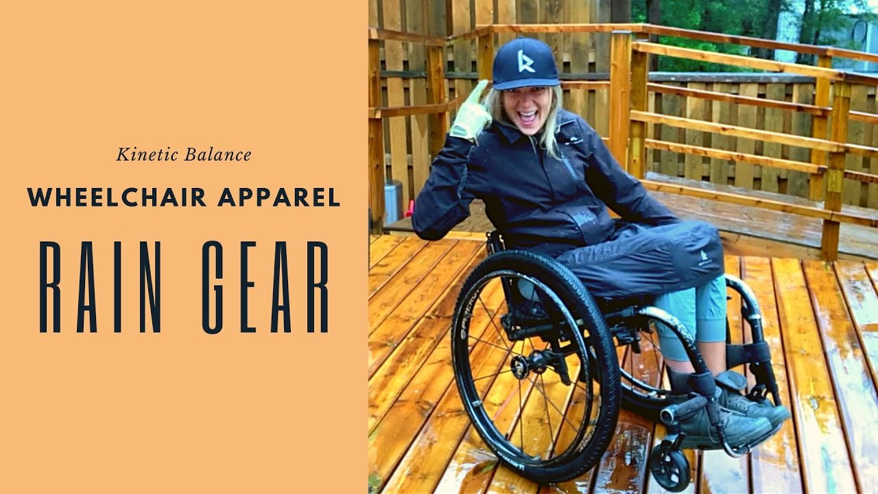 Wheelchair Apparel - Rain Gear by Kinetic Balance