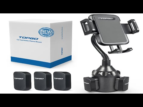 review-&-demo-of-the-topgo-gooseneck-car-cup-holder-phone-mount-for-convenience!