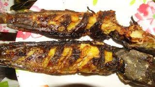 ปิ้งปลาดุก หมกหน่อไม้ กินข้าวอยู่บ้าน