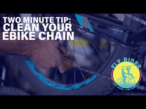 How To Clean Your eBike Chain, Fly Rides Two Minute Tips!
