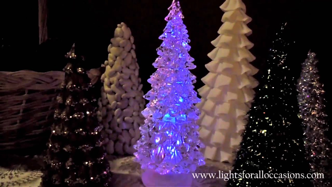 Lighted Christmas Tree Globe With Color Changing LEDs-Demo