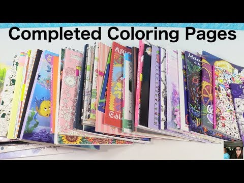 Adult Coloring Books Completed Finished Pages & Book Disney Tokidoki | PaulAndShannonsLife
