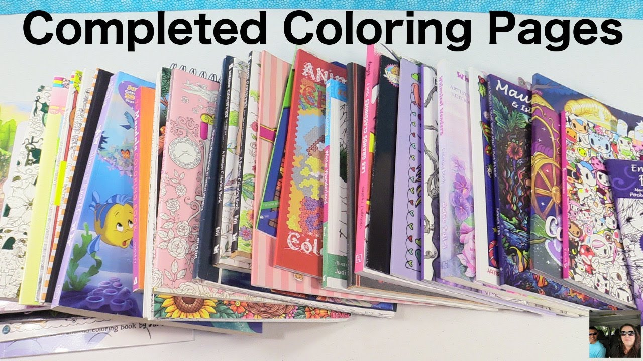 Adult Coloring Books Completed Finished Pages Book Disney Tokidoki