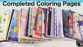 Adult Coloring Books Completed Finished Pages & Book Disney Tokidoki   PaulAndShannonsLife