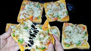 Bread Pizza Recipe - Quick and Easy Bread Pizza - Breakfast recipe