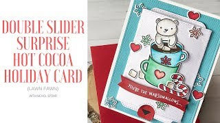 Lawn Fawn Double Slider Surprise Holiday Hot Cocoa Card