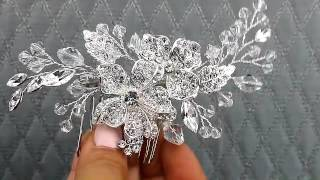 Rhinestone and Crystal Flower Comb from Hair Comes the Bride