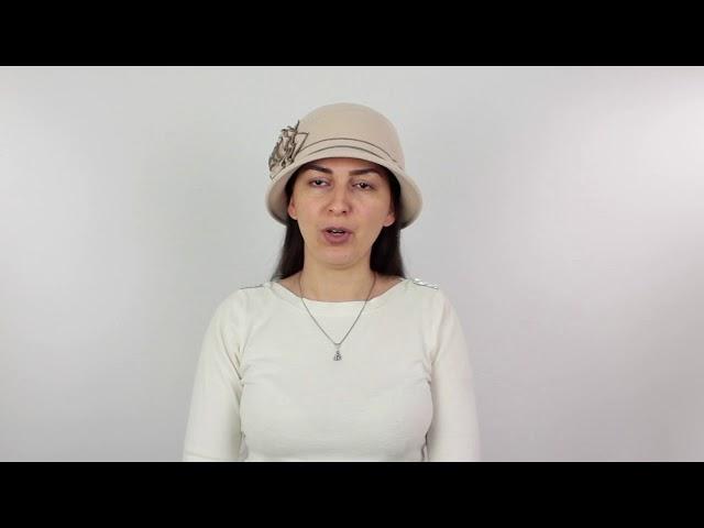 Шляпа, Динора Бежевая