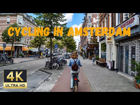 4K | CYCLING THROUGH THE STREETS OF AMSTERDAM | 2020 | CITY TOUR