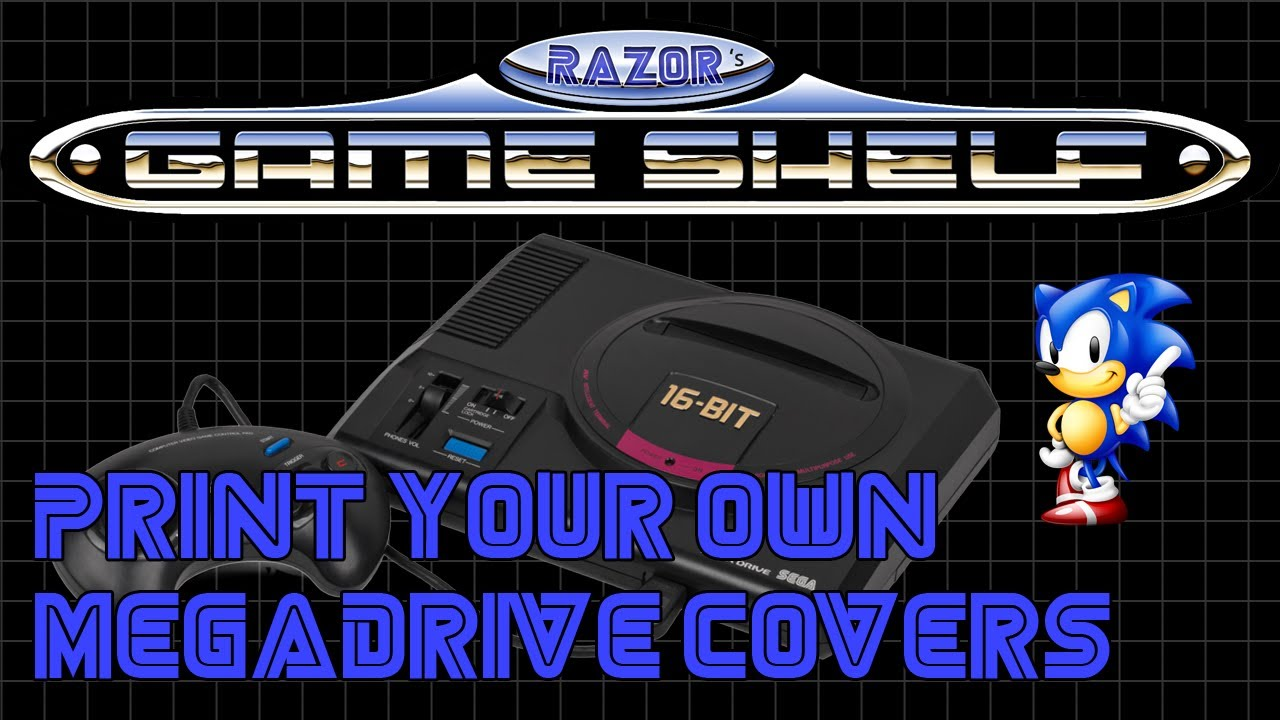 Print your own MegaDrive covers for your loose carts