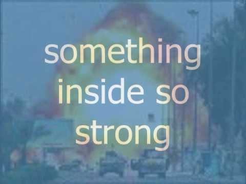 Something Inside So Strong With Lyrics