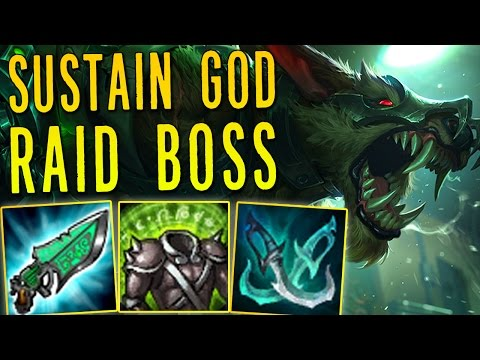 SUSTAIN GOD RAID BOSS WARWICK [ BURST HEAL ]