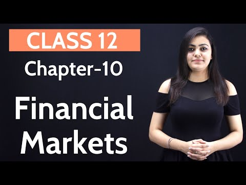 Financial Market Class 12 | in Hindi | WITH NOTES | Business Studies