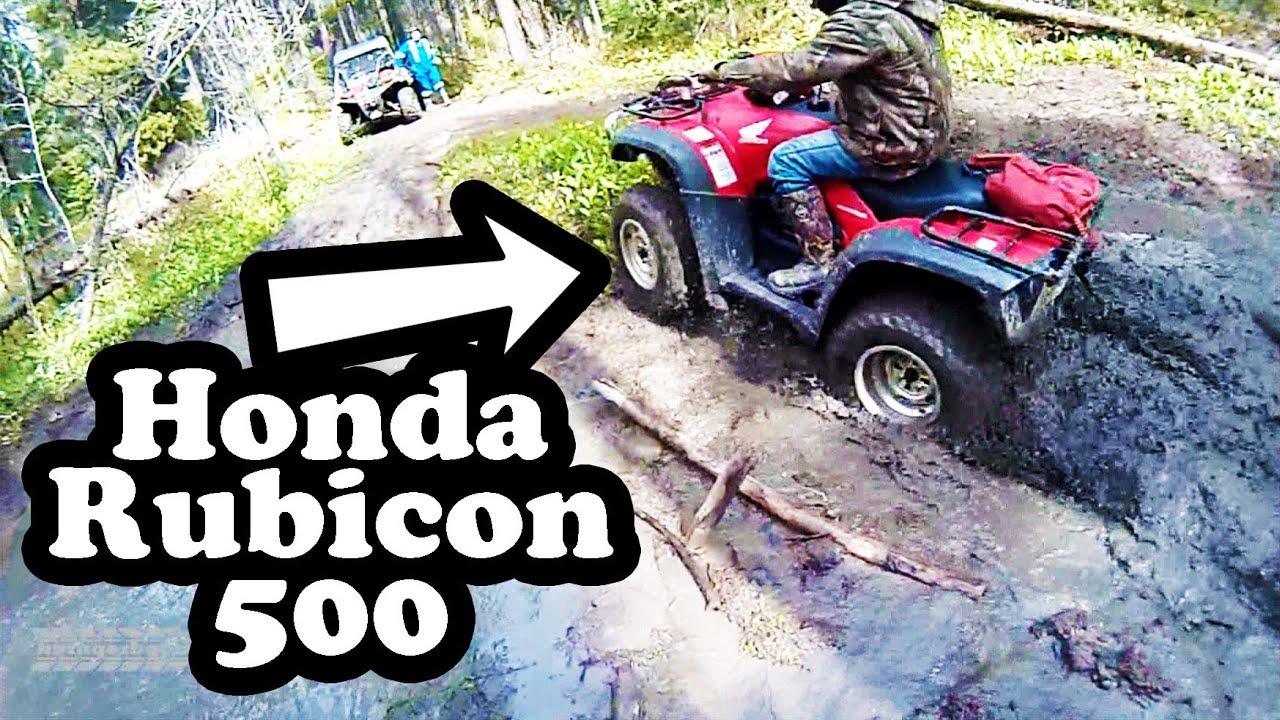 Honda Rubicon 500 4x4 Mudding Youtube