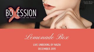 Lemonade Box Live Unboxing December 2019 by Nazia