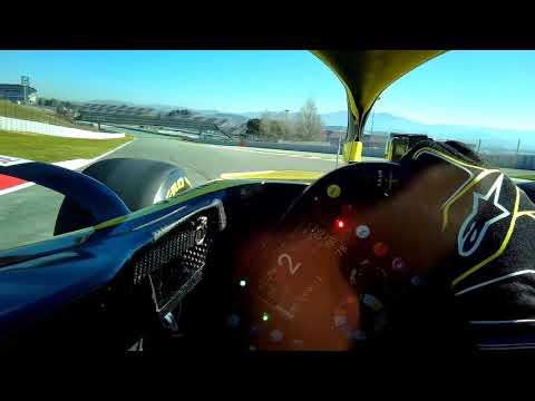 Daniel Ricciardo's First Lap In A Renault - Visor Cam | F1 Testing 2019