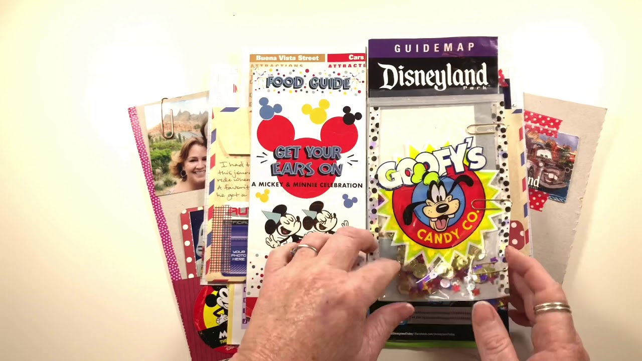 """Download An actual """"junk"""" journal I made from a couple of day trips to Disneyland and California Adventure."""