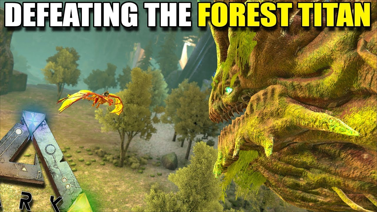 DEFEATING THE FOREST TITAN WITH MEKS AND FOREST WYVERNS | ARK:EXTINCTION  [EP34]
