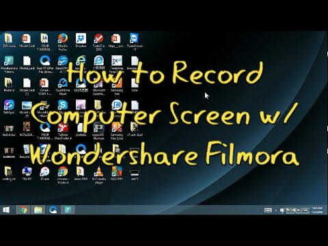 filmora record screen not working
