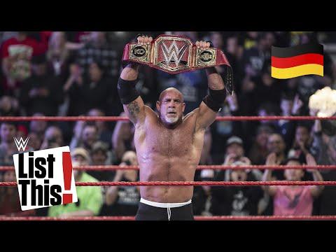 Jeder einzelne Titelgewinn Goldbergs - WWE List This! (DEUTSCH)