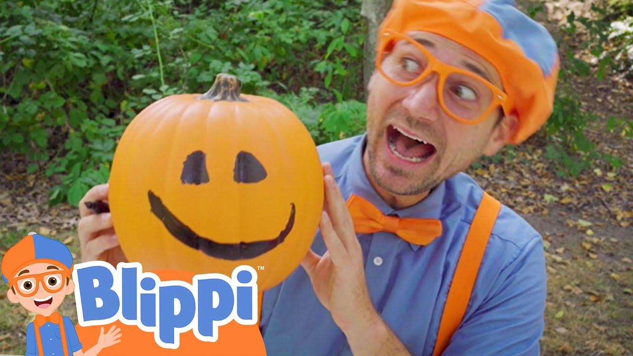 Blippi Carves Pumpkins At The Outdoor Playground | Educational Videos For Kids