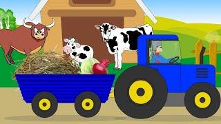 Мультик для малышей про животных. Дикие и домашние животные. Все серии подряд (Сборник)