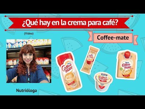 ¿Qué hay en la crema para café /Coffee matte?