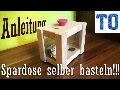 spardose selber bauen holz plexiglas youtube. Black Bedroom Furniture Sets. Home Design Ideas