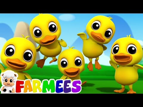 Five Little Ducks | 3D Nursery Rhymes | Kids Songs | Children's Music Video by Farmees S01E159