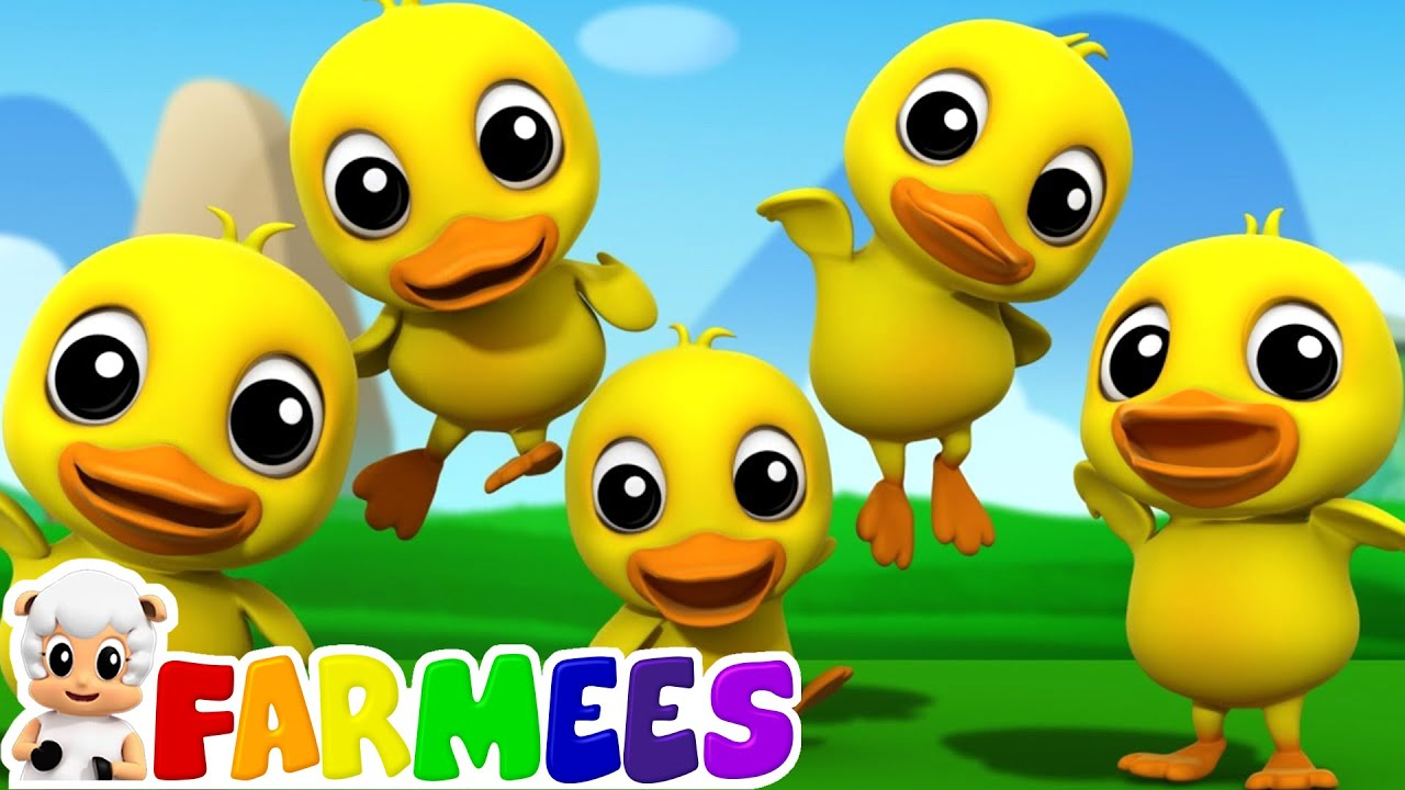 Five Little Ducks 3d Nursery Rhymes Kids Songs Children S Music Video By Farmees Youtube