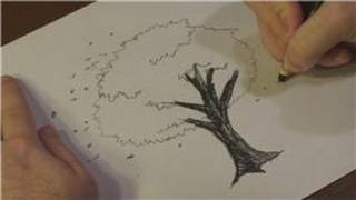 Nature Drawings : How to Draw Cherry Blossoms in Black and White