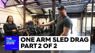 One Arm Sled Drag (2 of 2)
