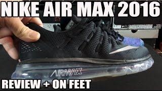 logo jugador Excursión  Nike Air Max 2016 Review & On Feet (Pros and Cons) - YouTube