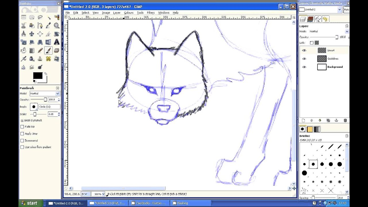 Tutorial To Draw Wolf In Easy Way